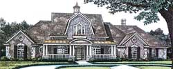 New-England-Colonial Style Home Design Plan: 8-540