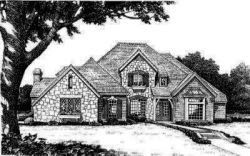English-Country Style House Plans Plan: 8-541
