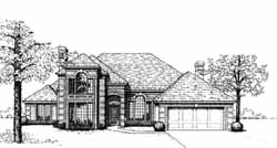 European Style House Plans Plan: 8-542