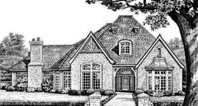 European Style Floor Plans Plan: 8-544