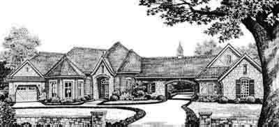 French-country Style House Plans Plan: 8-545