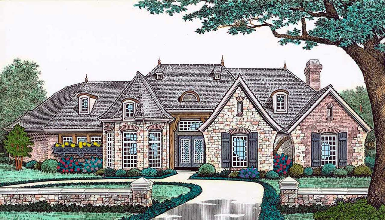 Traditional Style Home Design 8-547