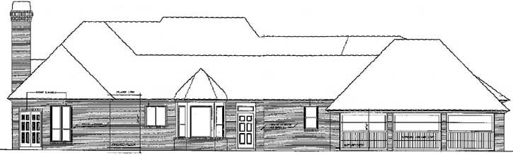 Rear Elevation Plan: 8-547