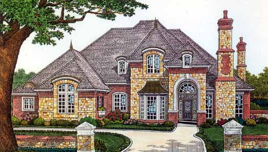 French-country Style House Plans Plan: 8-548