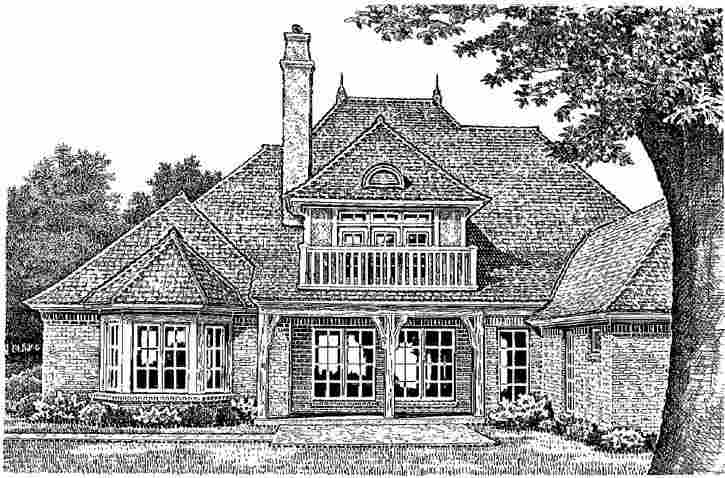 Rear Elevation Plan: 8-556