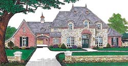 French-Country Style Floor Plans Plan: 8-556