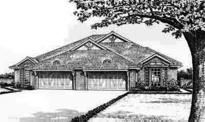 Traditional Style Home Design Plan: 8-562