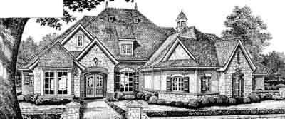 English-country Style Floor Plans Plan: 8-566