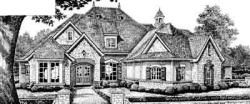 English-Country Style House Plans Plan: 8-566