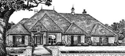 English-country Style House Plans Plan: 8-572