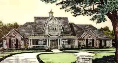 English-country Style Floor Plans Plan: 8-573