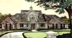 English-Country Style House Plans Plan: 8-573