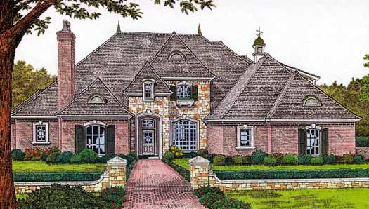 French-country Style Floor Plans Plan: 8-582
