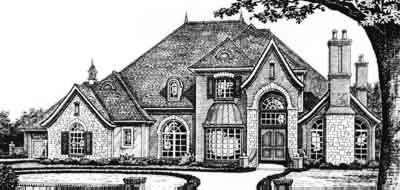 European Style House Plans Plan: 8-583
