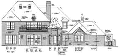 Rear Elevation Plan: 8-585