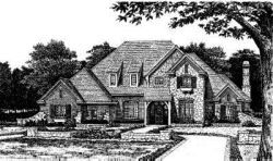 English-Country Style Home Design Plan: 8-587