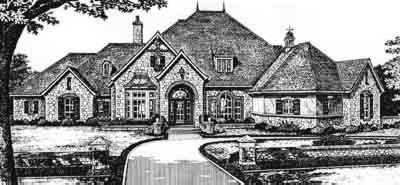 European Style Home Design Plan: 8-590