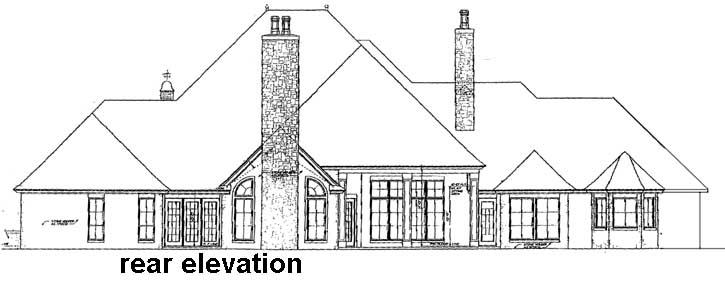 Rear Elevation Plan: 8-590