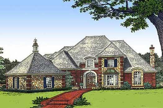 European Style House Plans Plan: 8-596