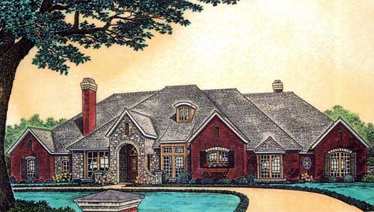 European Style Floor Plans Plan: 8-600
