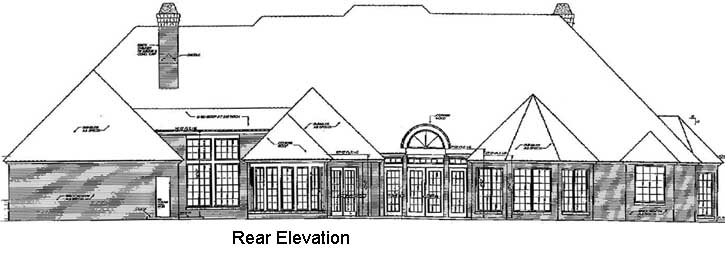 Rear Elevation Plan: 8-600