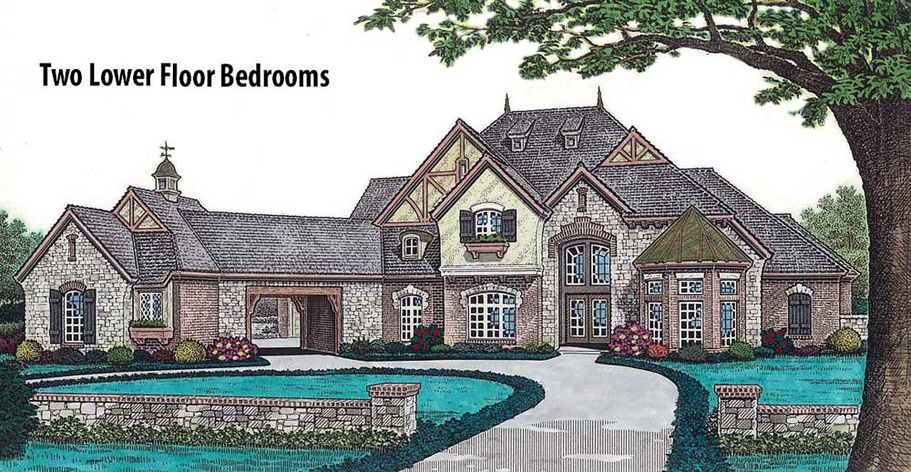 English-country Style Home Design Plan: 8-601