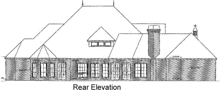 Rear Elevation Plan: 8-601