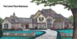 English-Country Style House Plans Plan: 8-601