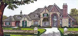 French-Country Style Floor Plans Plan: 8-602