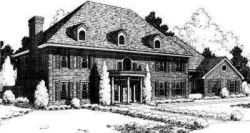Early-American Style Floor Plans Plan: 8-603