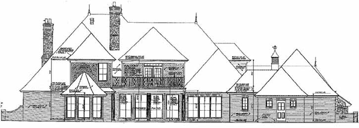 Rear Elevation Plan: 8-606