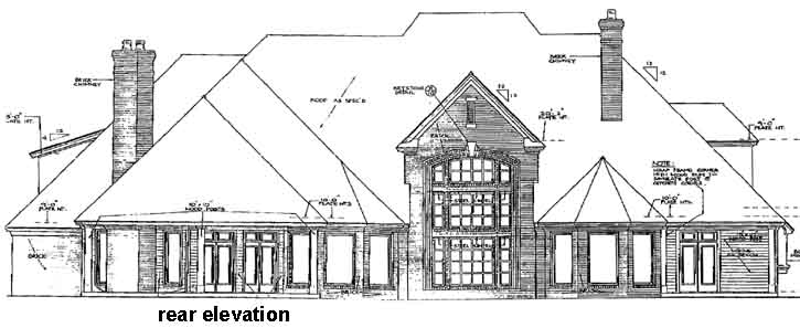 Rear Elevation Plan: 8-609