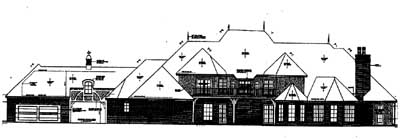 Rear Elevation Plan: 8-610