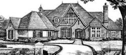 English-Country Style Home Design Plan: 8-611