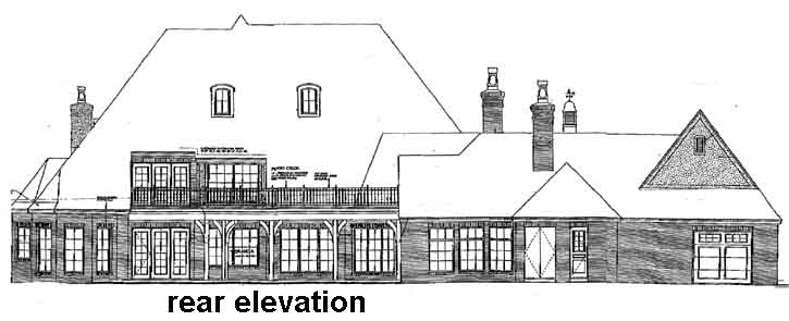 Rear Elevation Plan: 8-612