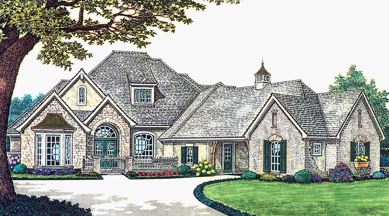 European Style House Plans Plan: 8-617