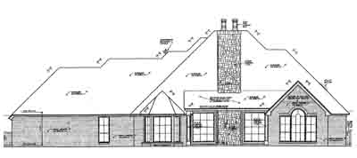 Rear Elevation Plan: 8-617