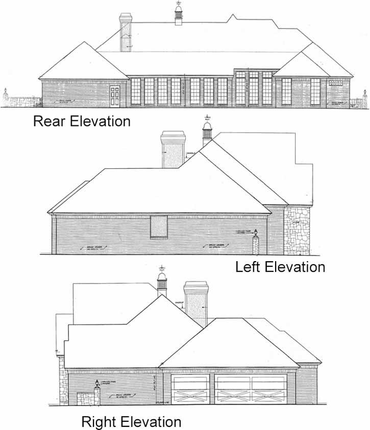 Rear Elevations Plan:8-624