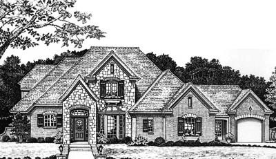 Traditional Style Home Design Plan: 8-627