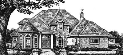 European Style House Plans Plan: 8-628