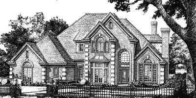 European Style Floor Plans Plan: 8-629