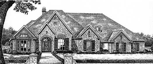 European Style Home Design Plan: 8-630