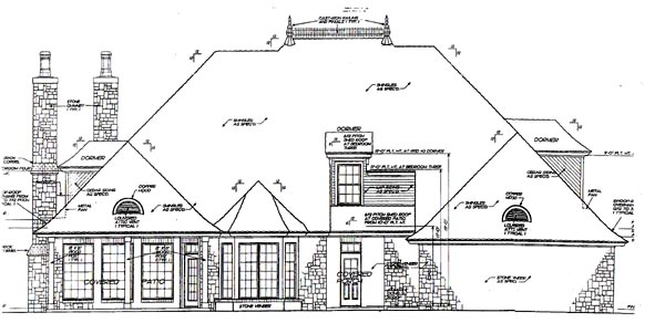 Rear Elevation Plan: 8-631