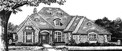 European Style House Plans Plan: 8-632