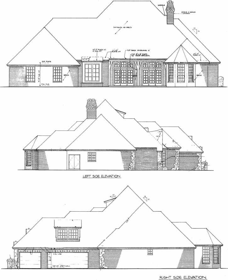 Rear Elevation Plan: 8-632
