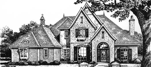 European Style House Plans 8-633