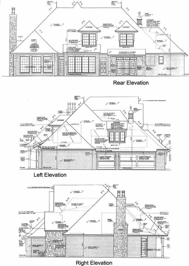 Rear Elevation Plan: 8-633