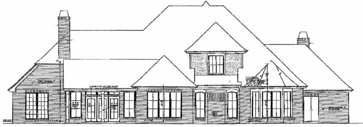 Rear Elevation Plan: 8-637
