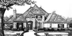 European Style Home Design Plan: 8-637