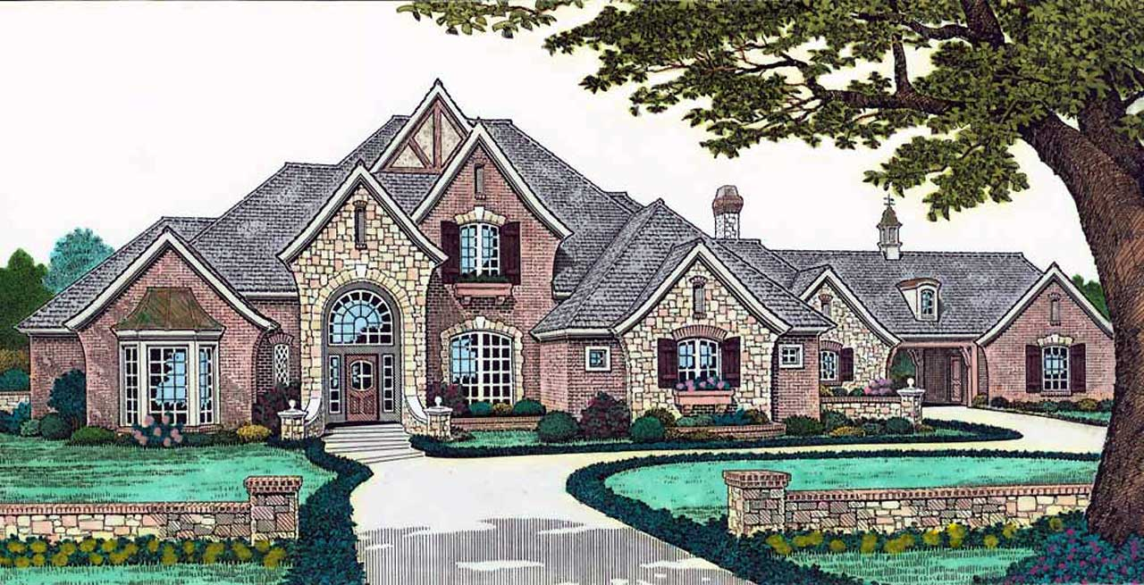 English-country Style House Plans Plan: 8-639